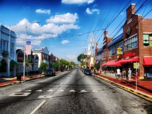 Vibrant downtown Newark, DE